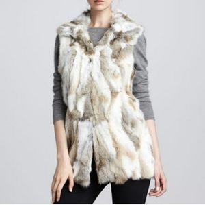 ADRIENNE LANDAU 100% Rabbit Fur Vest